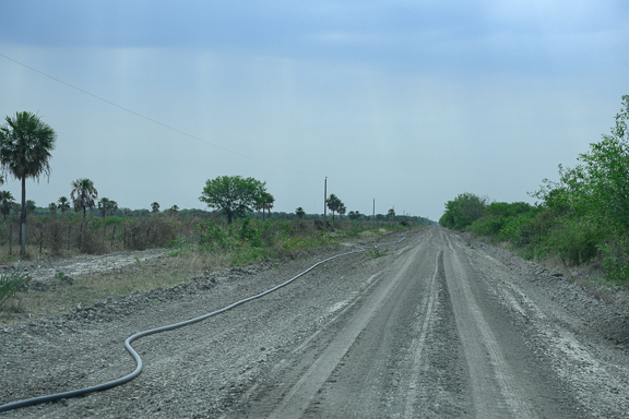 new road with waterline